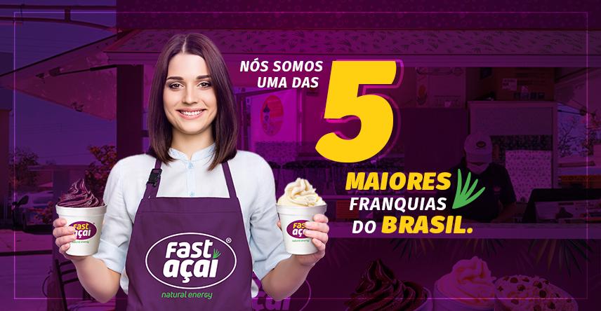 Estamos entre as 5 maiores redes de franquia do Brasil