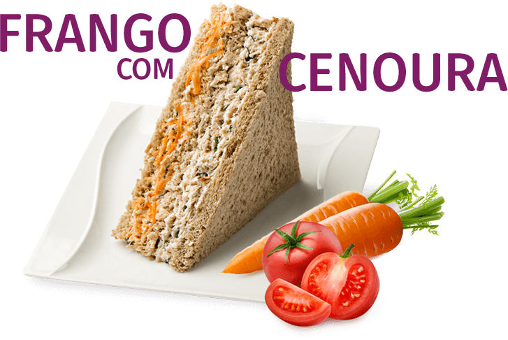 Sanduíche Frango com Cenoura