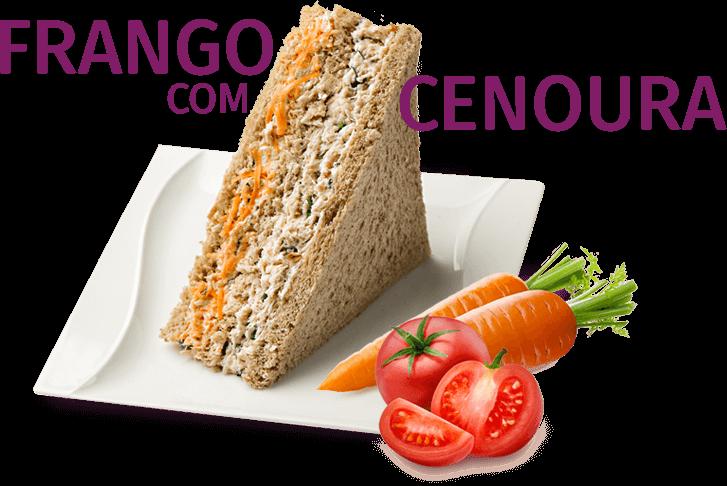 Sanduíche (PT) Frango com Cenoura
