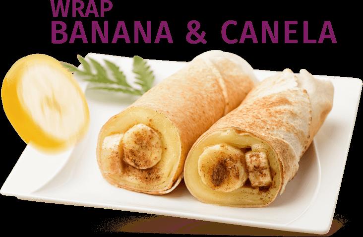 Wrap Banana, Mel & Canela.