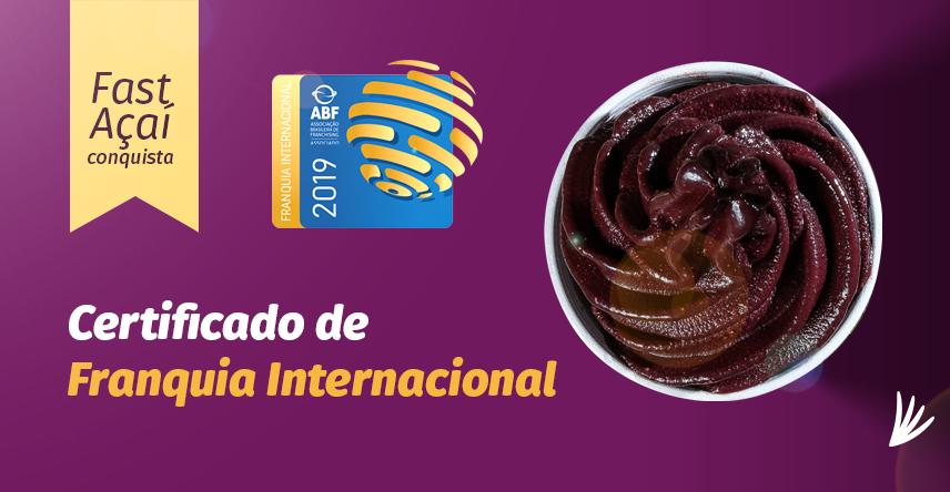 Fast Açaí conquista certificado de franquia internacional.