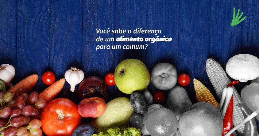 """Você sabe a diferença de um alimento orgânico para um """"comum""""?"""